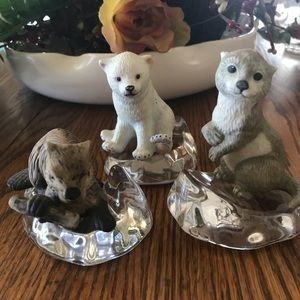 Three small figurines